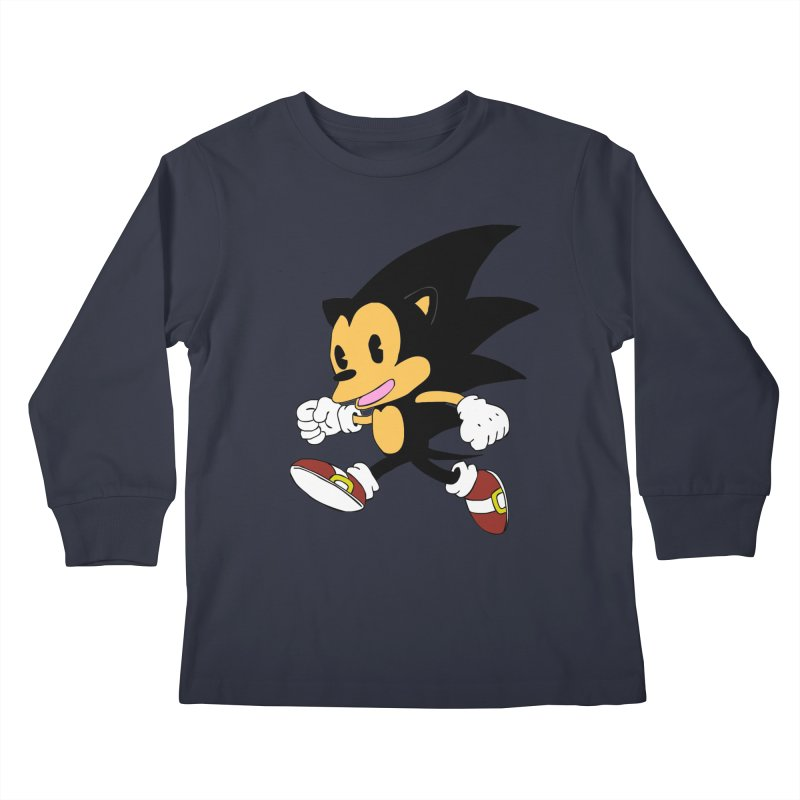Vintage the Hedgehog Kids Longsleeve T-Shirt by Shadeprint's Artist Shop