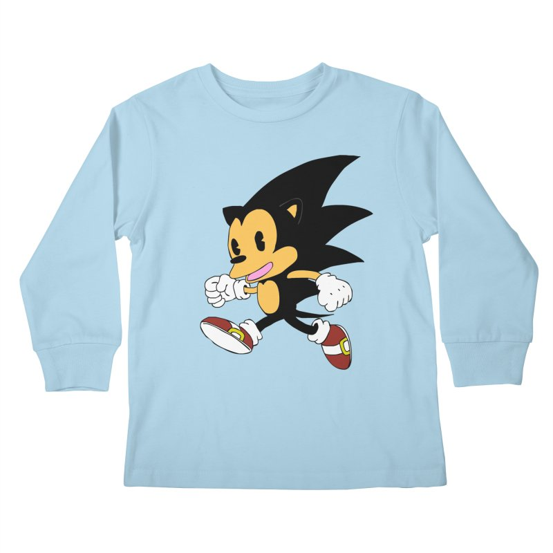 Vintage the Hedgehog Kids Longsleeve T-Shirt by Shadeprint's Artist Shop