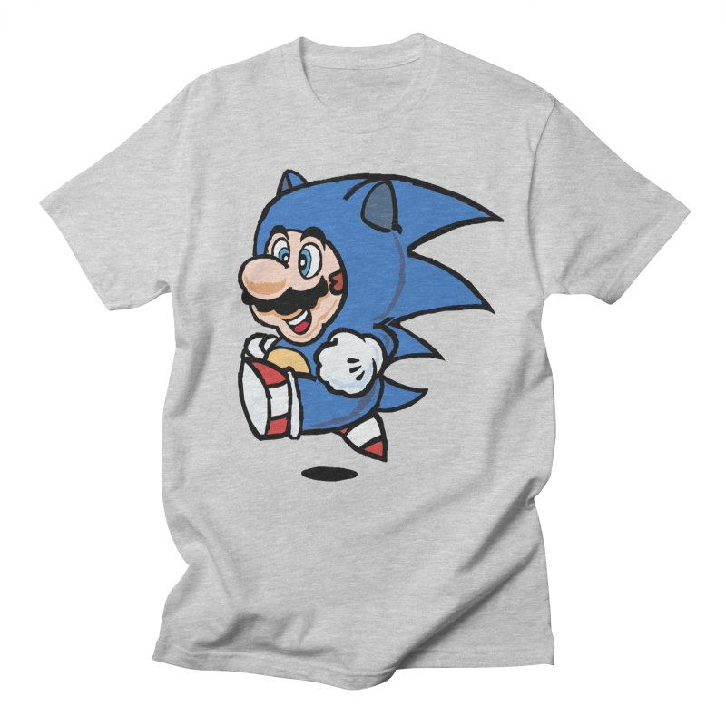 Sonooki Suit in Men's Regular T-Shirt Heather Grey by Shadeprint's Artist Shop