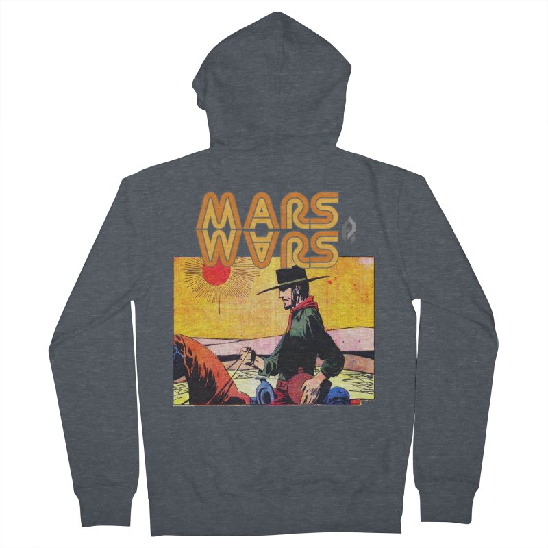Mars Travels. Women's French Terry Zip-Up Hoody by Shadeprint's Artist Shop