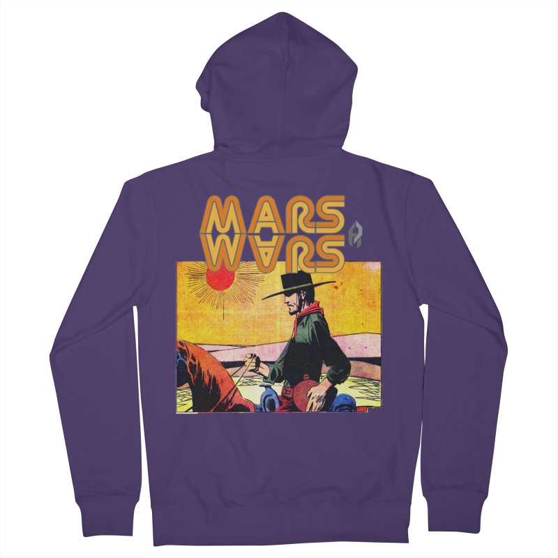 Mars Travels. Women's Zip-Up Hoody by Shadeprint's Artist Shop