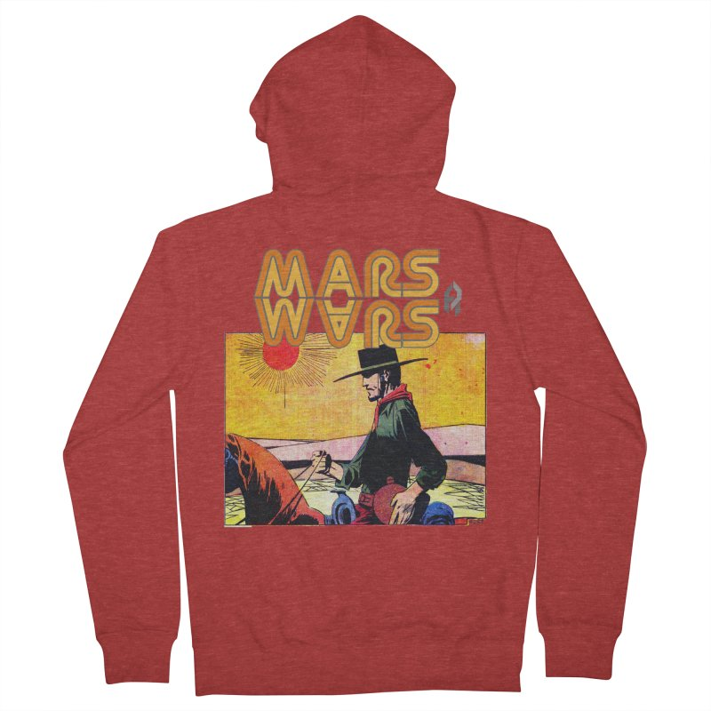 Mars Travels. Men's French Terry Zip-Up Hoody by Shadeprint's Artist Shop