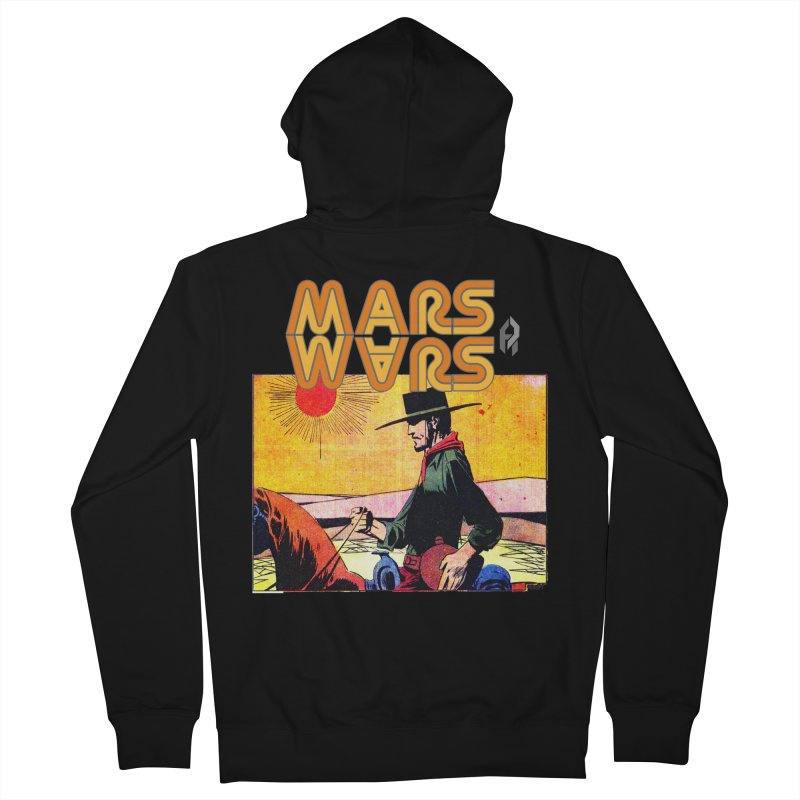 Mars Travels. Men's Zip-Up Hoody by Shadeprint's Artist Shop