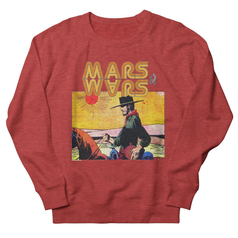 Mars Travels. Women's French Terry Sweatshirt by Shadeprint's Artist Shop