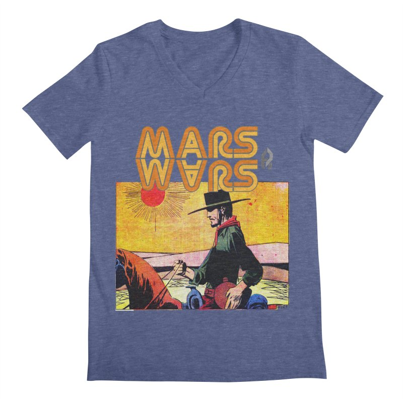 Mars Travels. Men's V-Neck by Shadeprint's Artist Shop