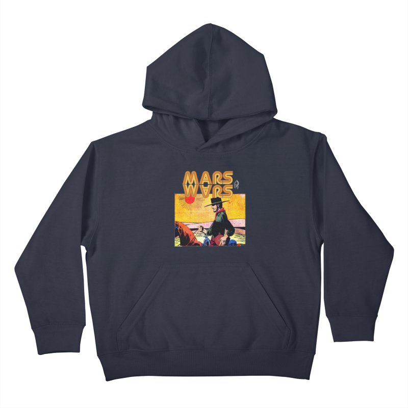 Mars Travels. Kids Pullover Hoody by Shadeprint's Artist Shop