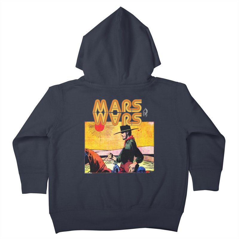 Mars Travels. Kids Toddler Zip-Up Hoody by Shadeprint's Artist Shop