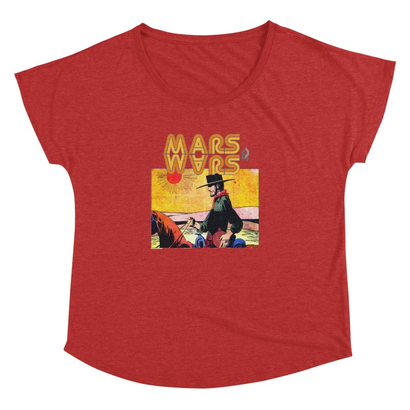 Mars Travels. Women's Dolman Scoop Neck by Shadeprint's Artist Shop