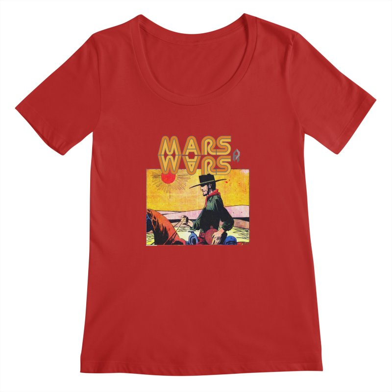 Mars Travels. Women's Scoopneck by Shadeprint's Artist Shop