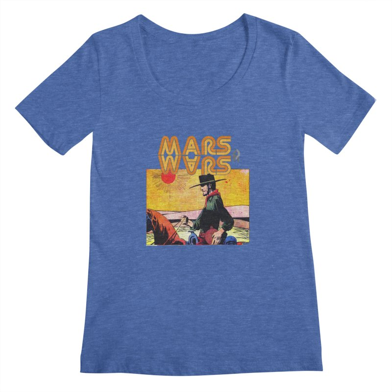 Mars Travels. Women's Regular Scoop Neck by Shadeprint's Artist Shop