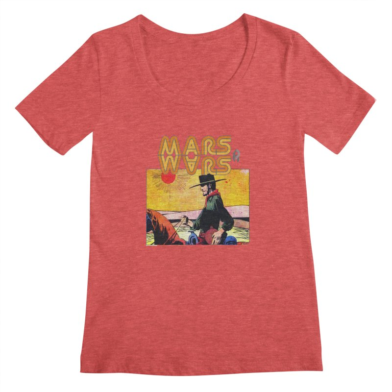 Mars Travels. Women's Scoopneck by Shadeprint's Artist Shop