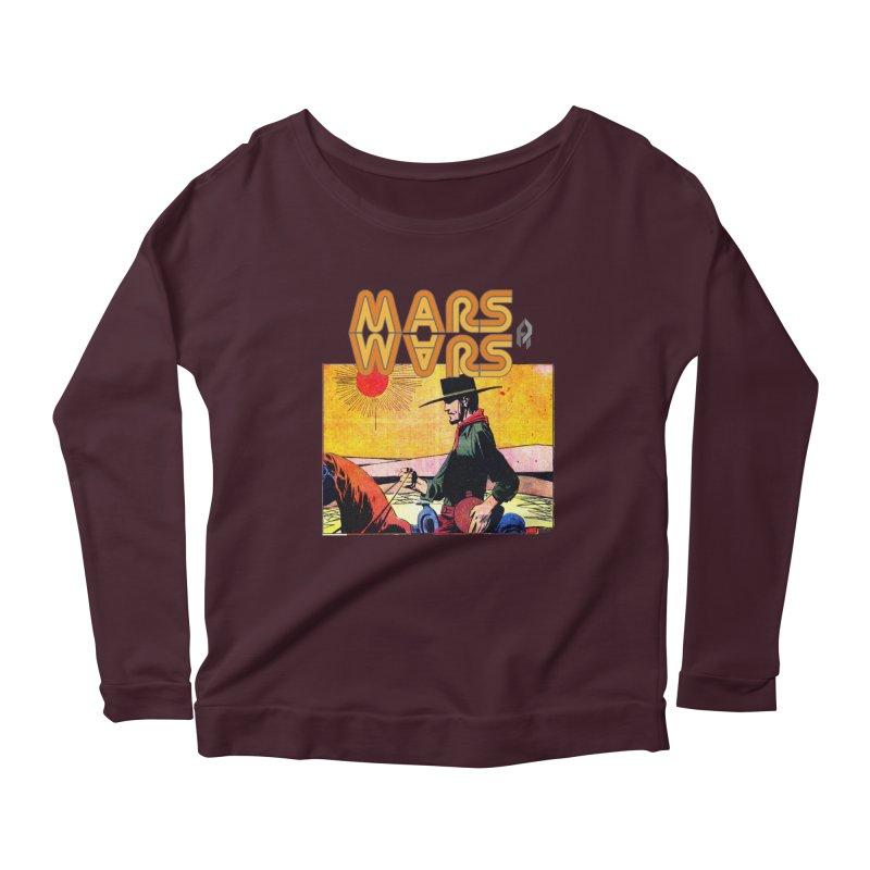 Mars Travels. Women's Scoop Neck Longsleeve T-Shirt by Shadeprint's Artist Shop
