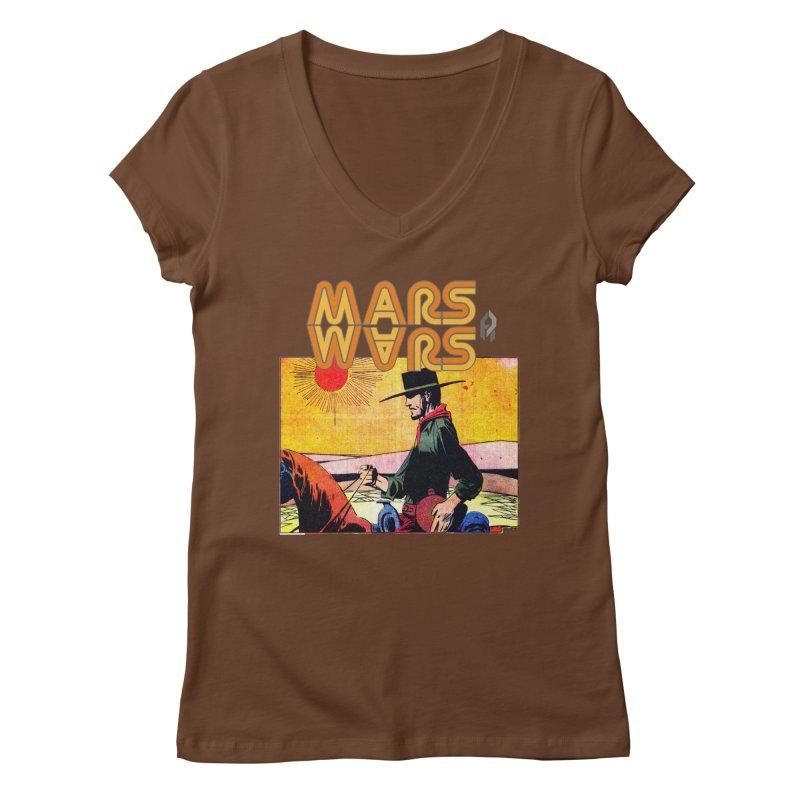 Mars Travels. Women's V-Neck by Shadeprint's Artist Shop