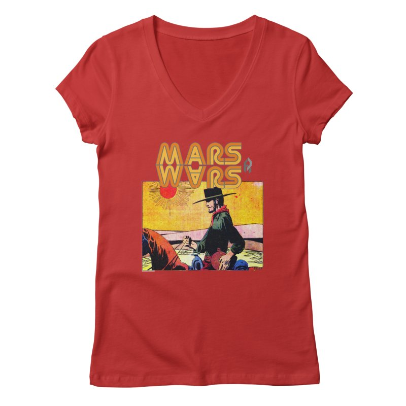 Mars Travels. Women's Regular V-Neck by Shadeprint's Artist Shop
