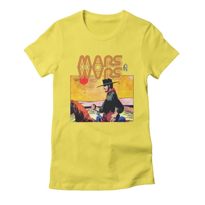 Mars Travels. Women's Fitted T-Shirt by Shadeprint's Artist Shop