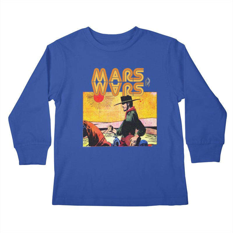 Mars Travels. Kids Longsleeve T-Shirt by Shadeprint's Artist Shop