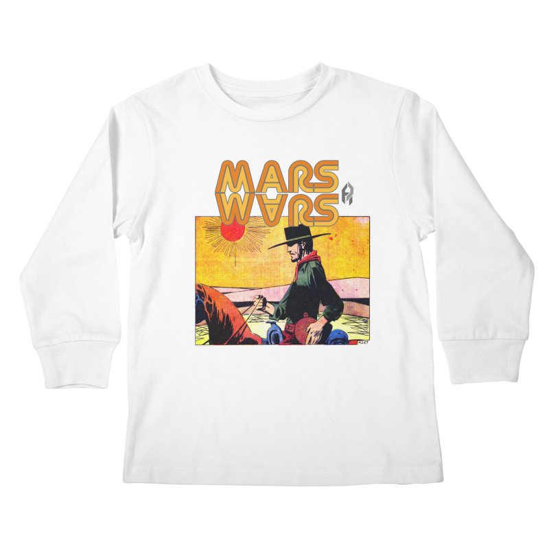 Mars Travels. Kids Longsleeve T-Shirt by Shadeprint's Artist Shop