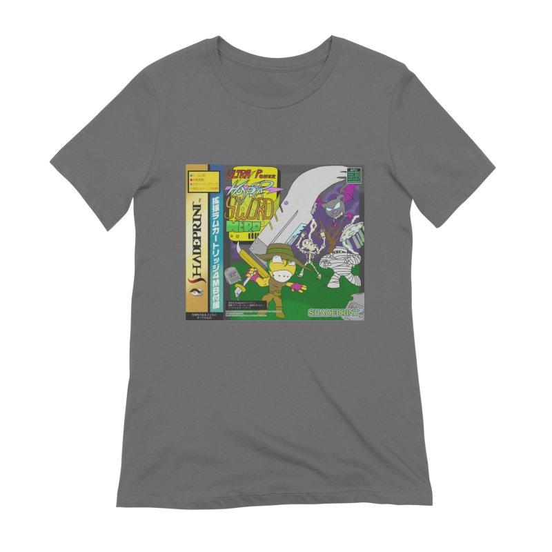 Super Power Hyper Sword Hero [CD Case insert] Women's T-Shirt by Shadeprint's Artist Shop