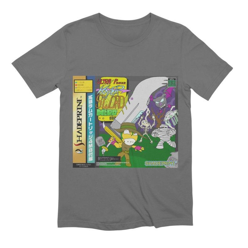Super Power Hyper Sword Hero [CD Case insert] Men's T-Shirt by Shadeprint's Artist Shop