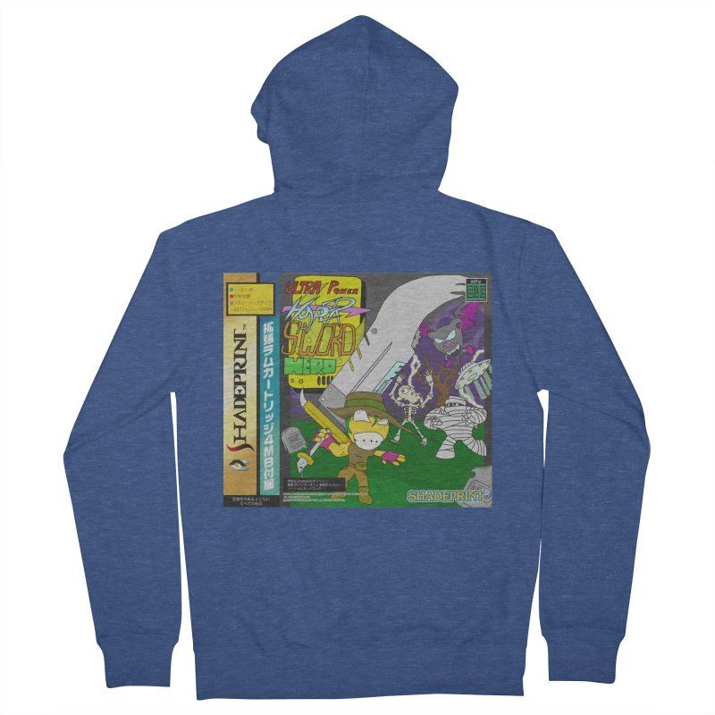 Super Power Hyper Sword Hero [CD Case insert] Women's Zip-Up Hoody by Shadeprint's Artist Shop