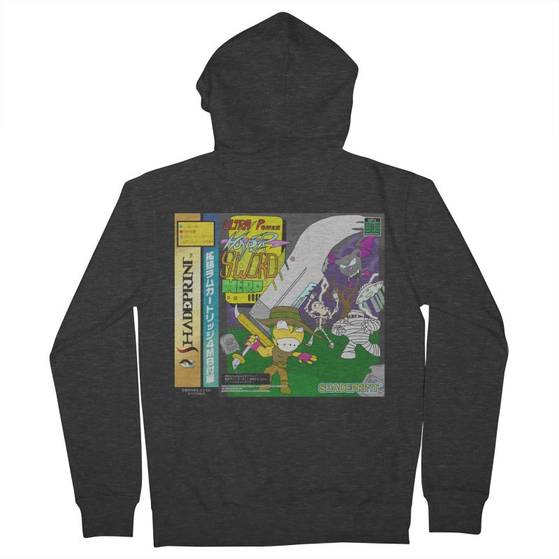 Super Power Hyper Sword Hero [CD Case insert] Men's Zip-Up Hoody by Shadeprint's Artist Shop