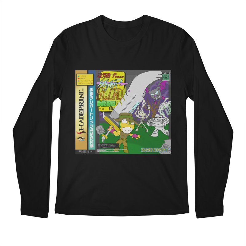 Super Power Hyper Sword Hero [CD Case insert] Men's Longsleeve T-Shirt by Shadeprint's Artist Shop