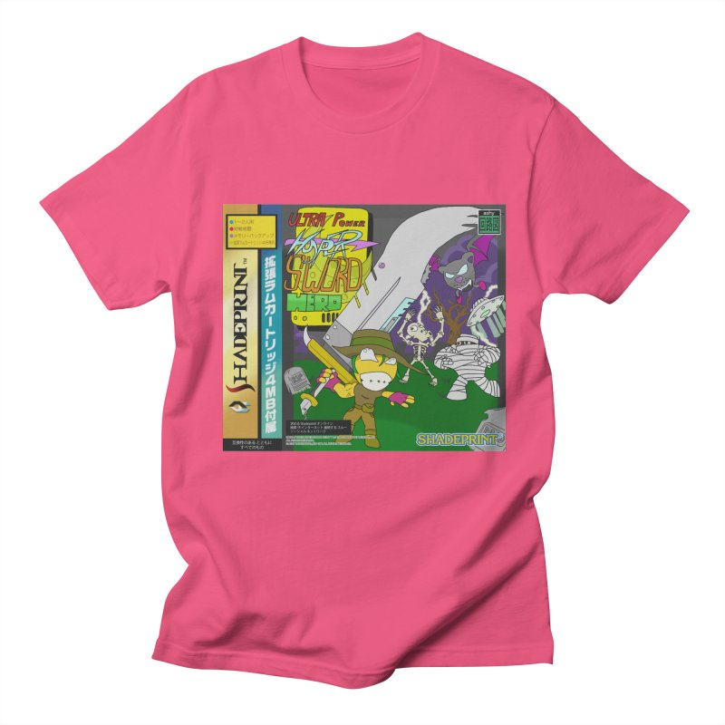 Super Power Hyper Sword Hero [CD Case insert] Men's T-Shirt by Shadeprint's Artist Shop