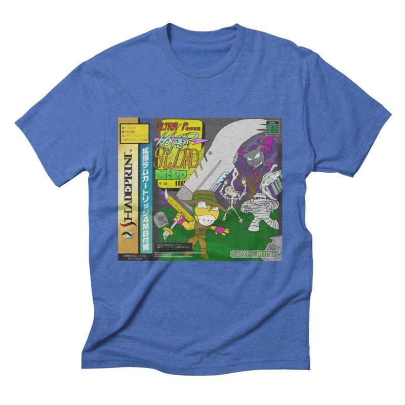 Super Power Hyper Sword Hero [CD Case insert] Men's Triblend T-Shirt by Shadeprint's Artist Shop