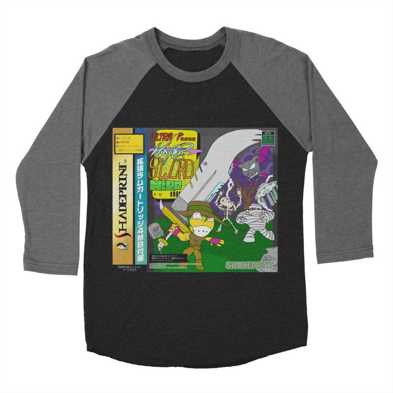 Super Power Hyper Sword Hero [CD Case insert] Men's Baseball Triblend T-Shirt by Shadeprint's Artist Shop