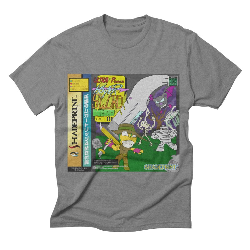 Super Power Hyper Sword Hero [CD Case insert] Men's Triblend T-shirt by Shadeprint's Artist Shop