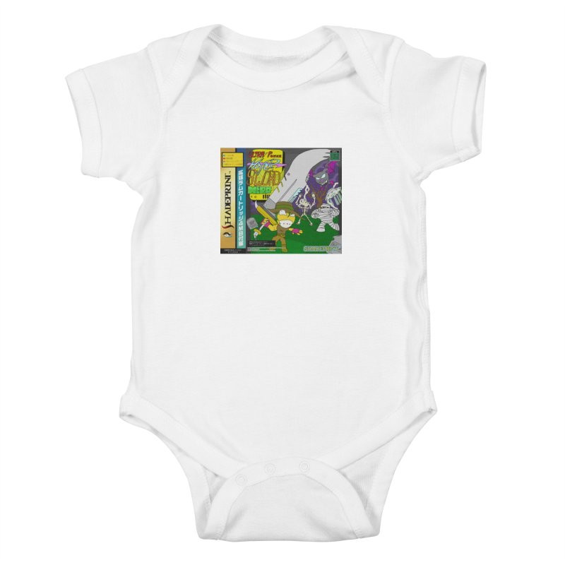 Super Power Hyper Sword Hero [CD Case insert] Kids Baby Bodysuit by Shadeprint's Artist Shop