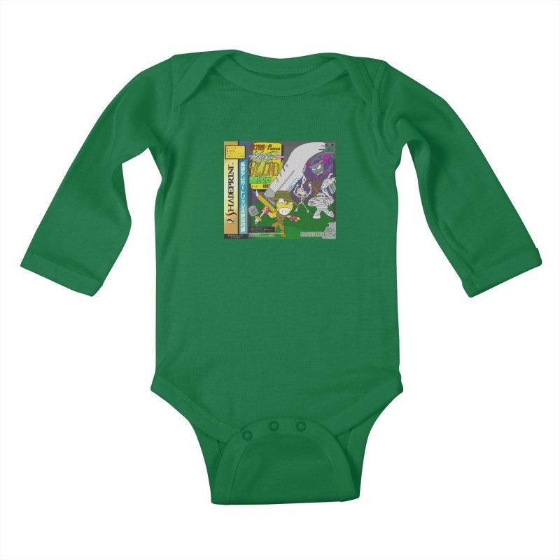 Super Power Hyper Sword Hero [CD Case insert] Kids Baby Longsleeve Bodysuit by Shadeprint's Artist Shop