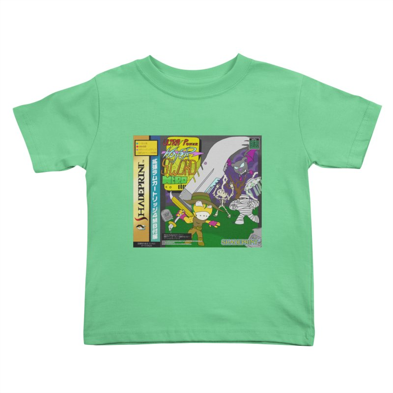 Super Power Hyper Sword Hero [CD Case insert] Kids Toddler T-Shirt by Shadeprint's Artist Shop