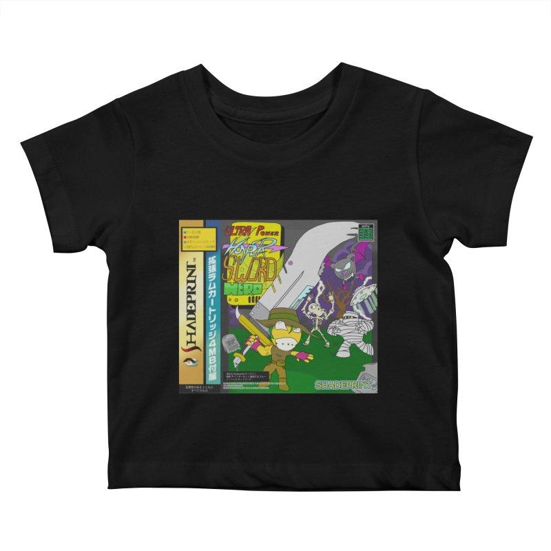 Super Power Hyper Sword Hero [CD Case insert] Kids Baby T-Shirt by Shadeprint's Artist Shop