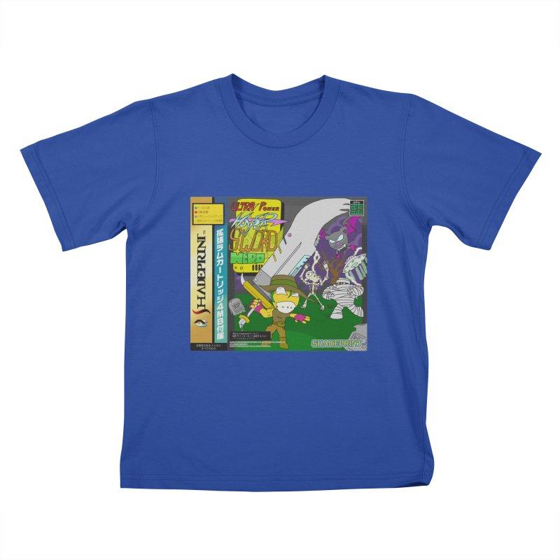 Super Power Hyper Sword Hero [CD Case insert] Kids T-Shirt by Shadeprint's Artist Shop