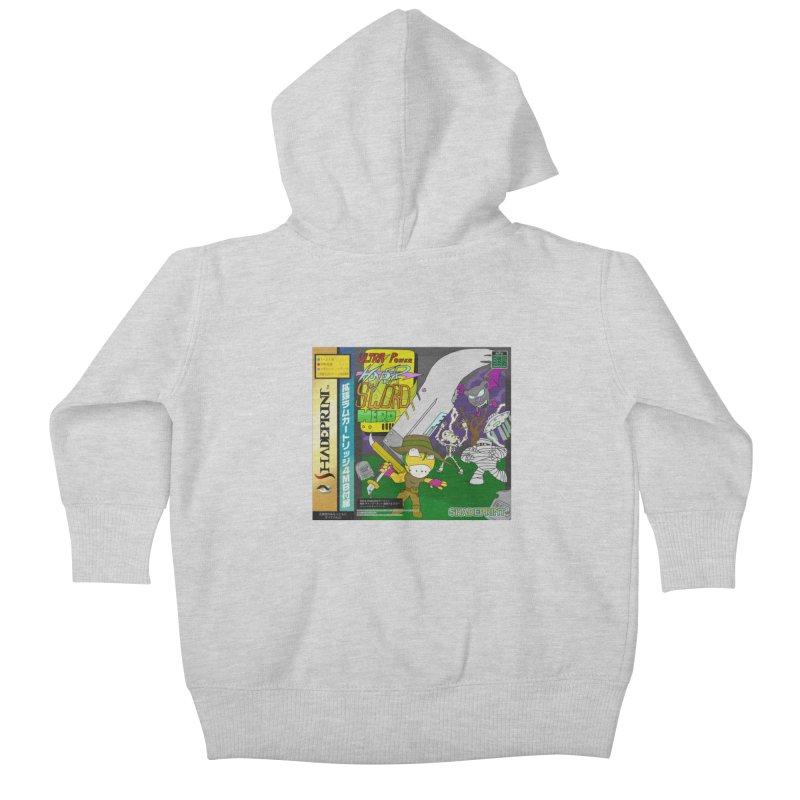 Super Power Hyper Sword Hero [CD Case insert] Kids Baby Zip-Up Hoody by Shadeprint's Artist Shop