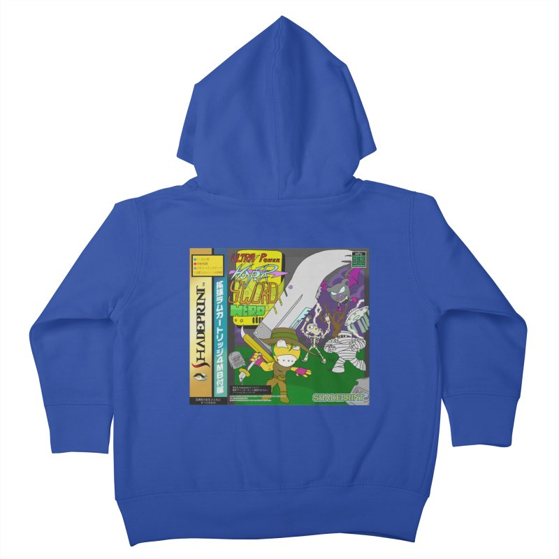 Super Power Hyper Sword Hero [CD Case insert] Kids Toddler Zip-Up Hoody by Shadeprint's Artist Shop