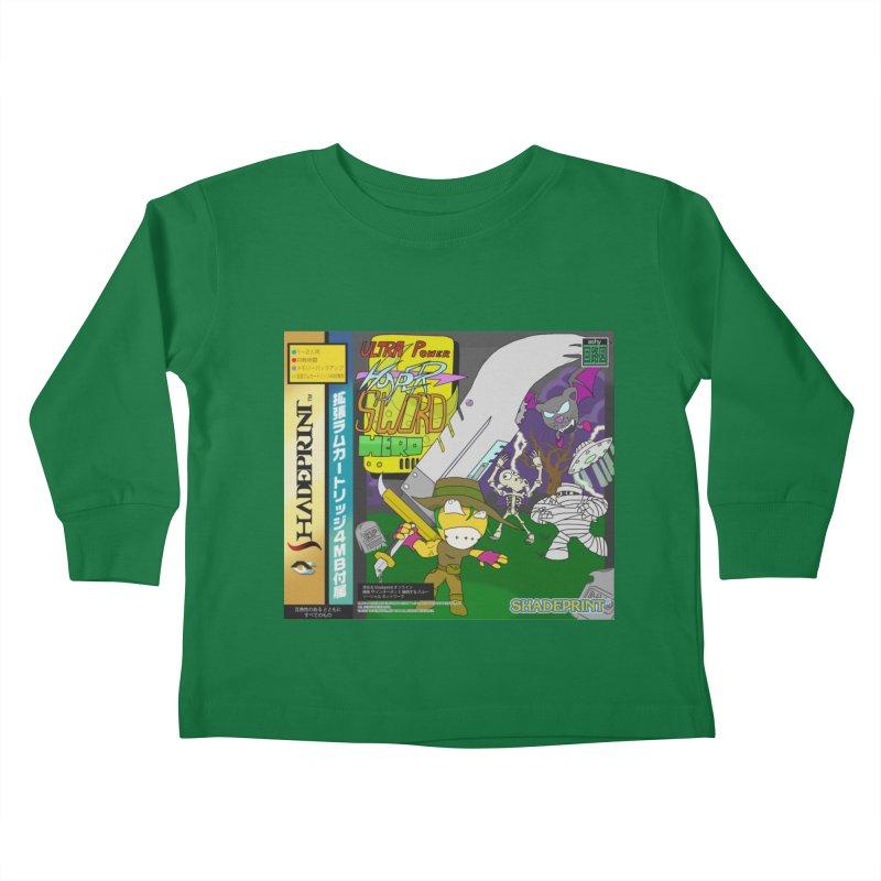 Super Power Hyper Sword Hero [CD Case insert] Kids Toddler Longsleeve T-Shirt by Shadeprint's Artist Shop