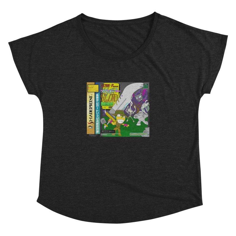 Super Power Hyper Sword Hero [CD Case insert] Women's Dolman by Shadeprint's Artist Shop