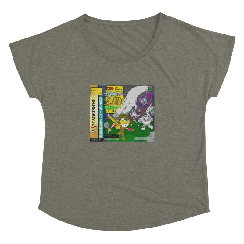 Super Power Hyper Sword Hero [CD Case insert] Women's Dolman Scoop Neck by Shadeprint's Artist Shop