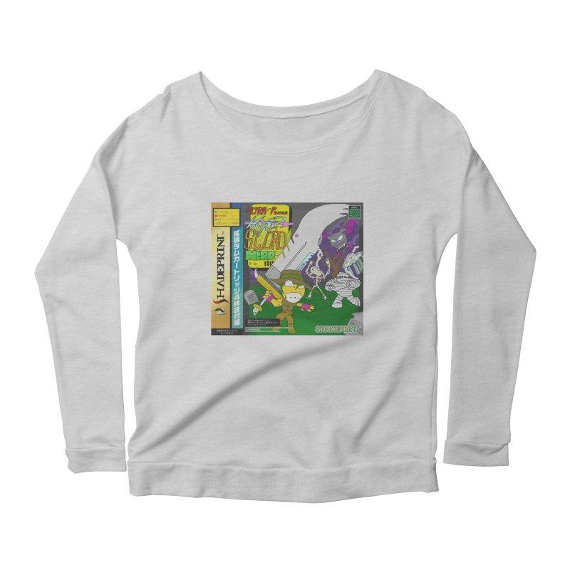 Super Power Hyper Sword Hero [CD Case insert] Women's Scoop Neck Longsleeve T-Shirt by Shadeprint's Artist Shop