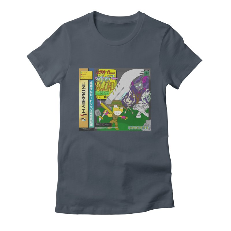 Super Power Hyper Sword Hero [CD Case insert] Women's T-Shirt by Shadeprint's Artist Shop