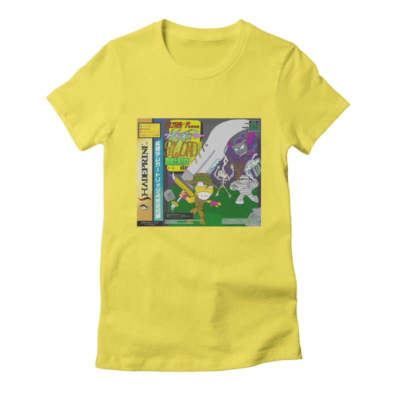 Super Power Hyper Sword Hero [CD Case insert] Women's Fitted T-Shirt by Shadeprint's Artist Shop
