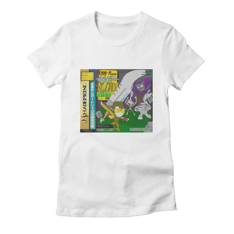 Super Power Hyper Sword Hero [CD Case insert] Women's Fitted T-Shirt by Shadeprint's Artist Shop