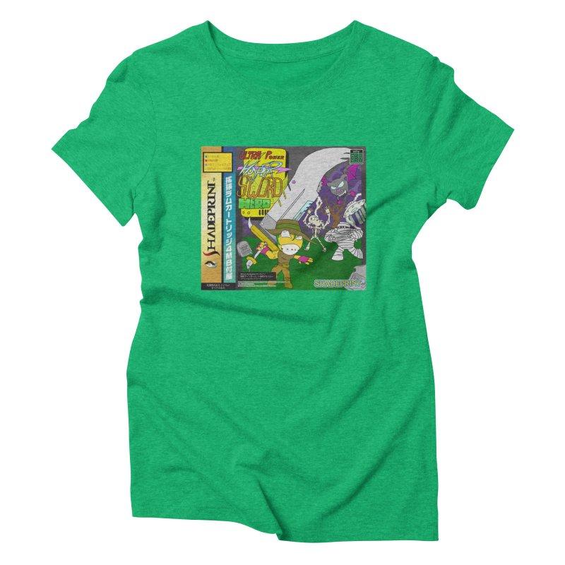 Super Power Hyper Sword Hero [CD Case insert] Women's Triblend T-shirt by Shadeprint's Artist Shop