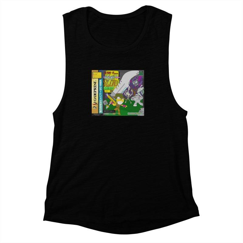 Super Power Hyper Sword Hero [CD Case insert] Women's Muscle Tank by Shadeprint's Artist Shop
