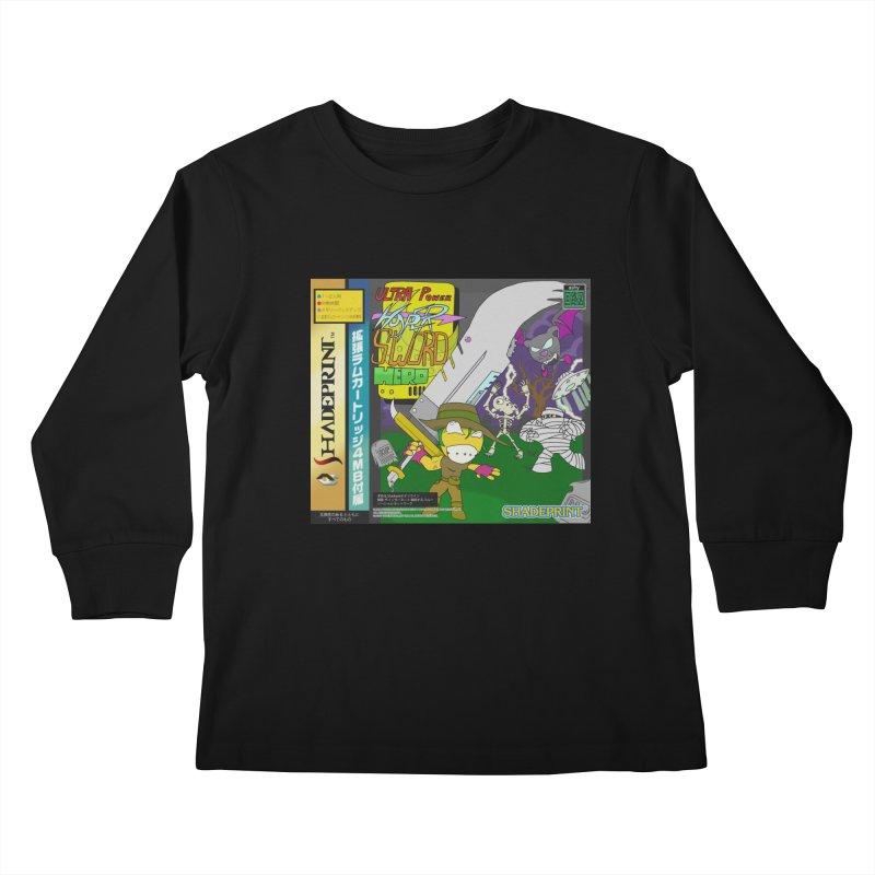 Super Power Hyper Sword Hero [CD Case insert] Kids Longsleeve T-Shirt by Shadeprint's Artist Shop