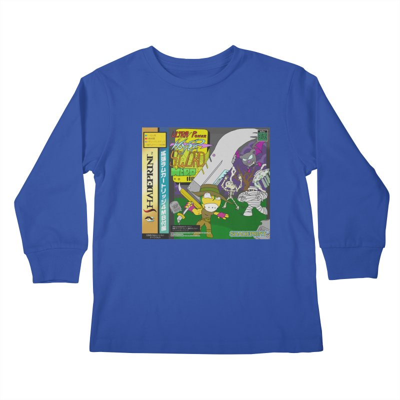 Super Power Hyper Sword Hero [CD Case insert] Kids Longsleeve T-Shirt by Shadeprint's Artist Shop