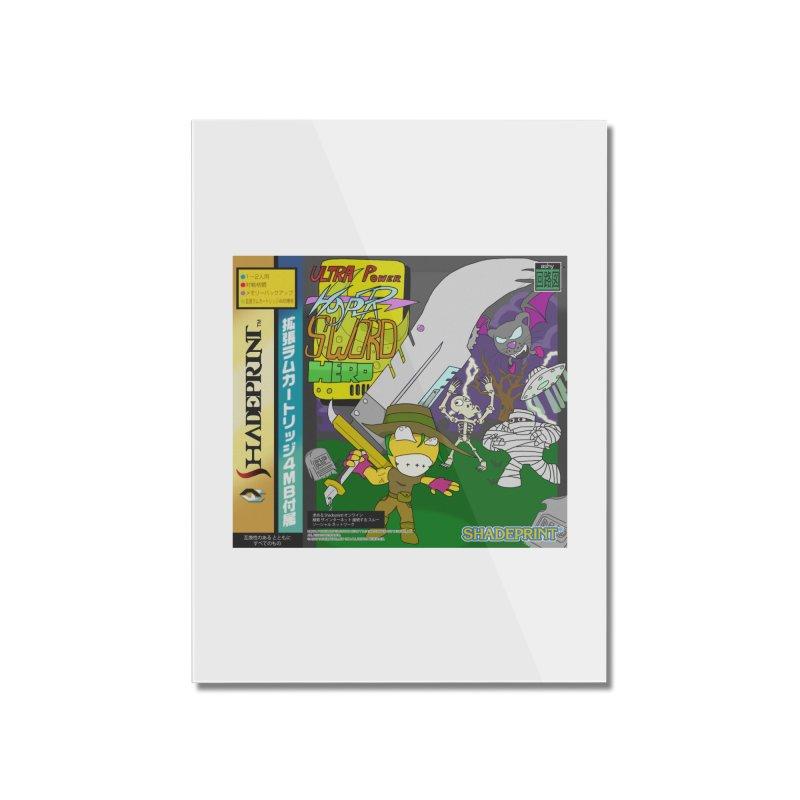 Super Power Hyper Sword Hero [CD Case insert] Home Mounted Acrylic Print by Shadeprint's Artist Shop