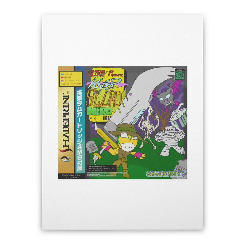 Super Power Hyper Sword Hero [CD Case insert] Home Stretched Canvas by Shadeprint's Artist Shop